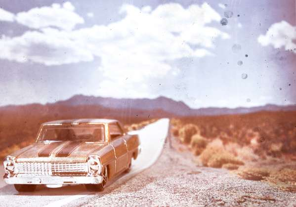 Illusory Toy Car Photography
