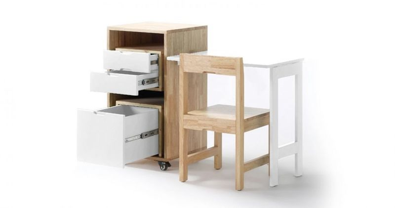 Compact Modular Student Desks