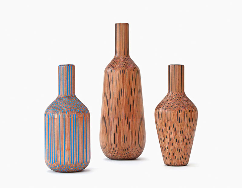 Stacked Pencil Vases