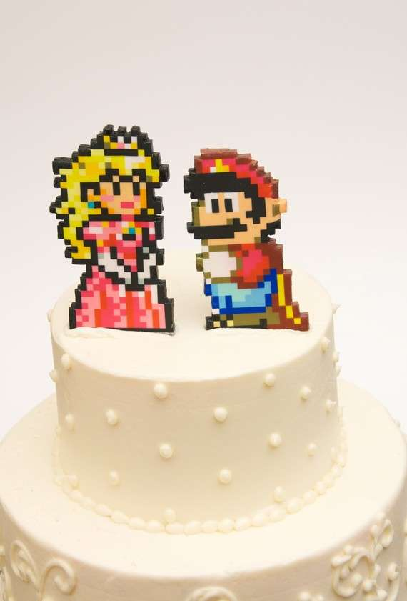 Geeky Gamer Cake Toppers
