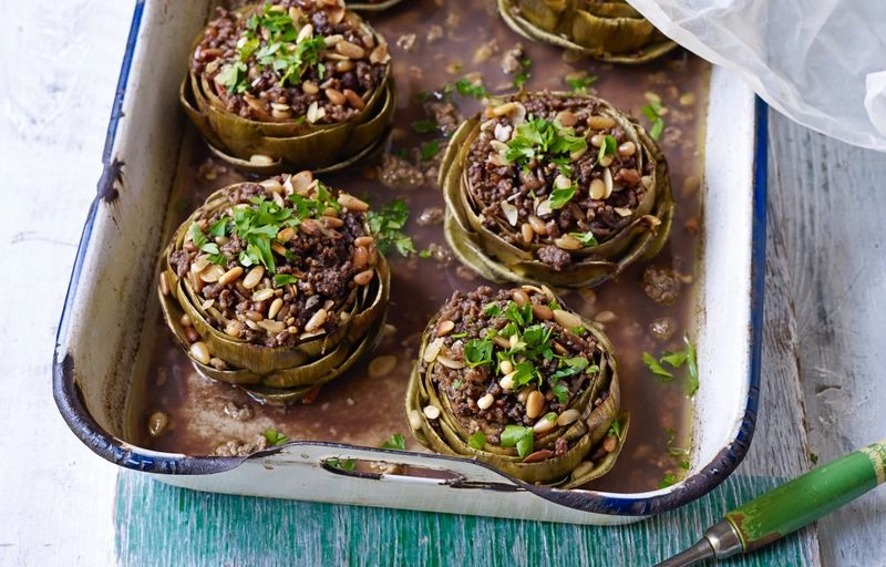 Meat-Stuffed Artichoke Recipes : stuffed artichoke