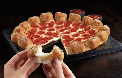 Garlicky Stuffed Pizza Crusts