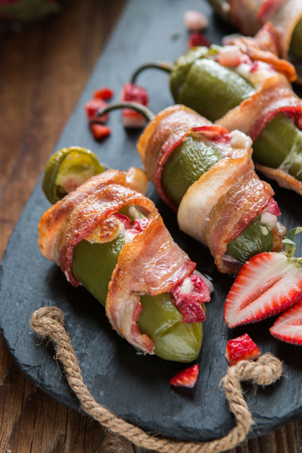 Bacon Strawberry-Stuffed Peppers