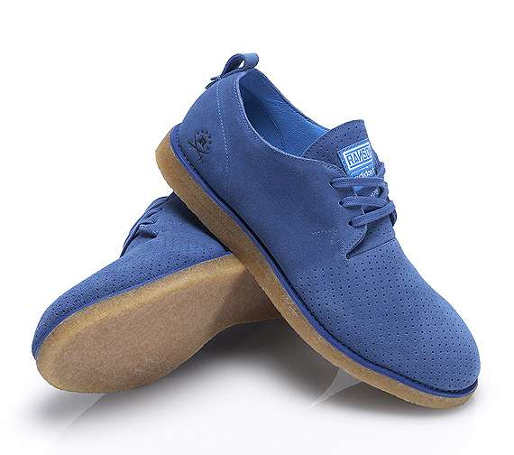 Ocean Blue Suede Sneakers