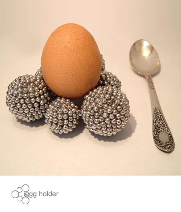 Metallic Pellet Egg Stands