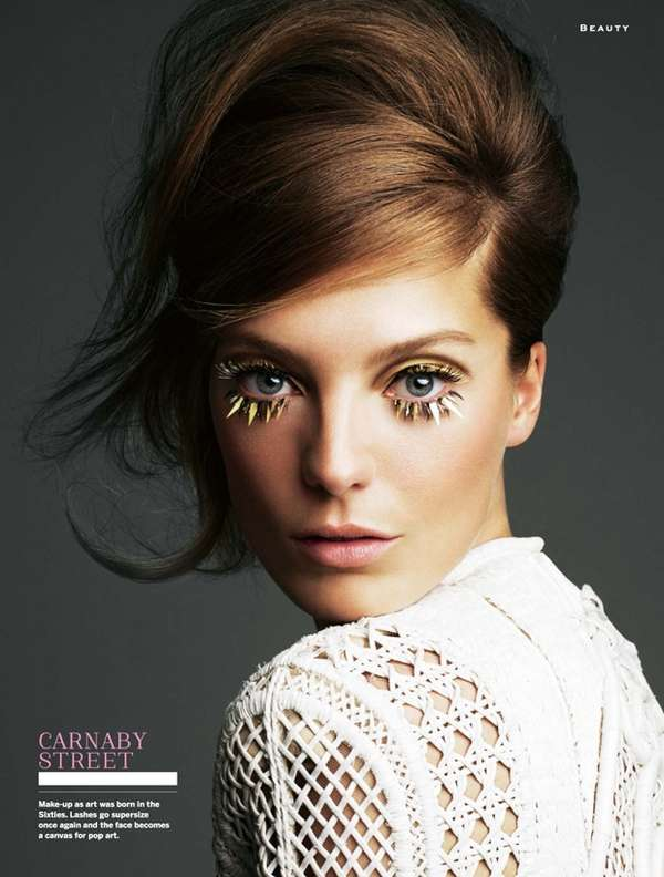 Tinsel Eyelash Editorials