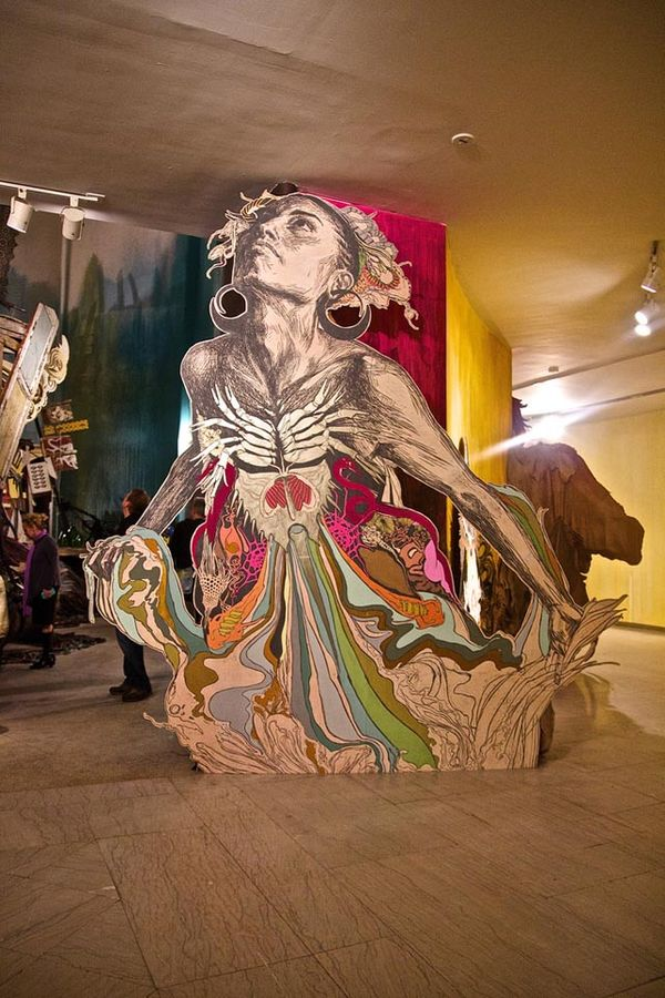 Eclectic Material Installations