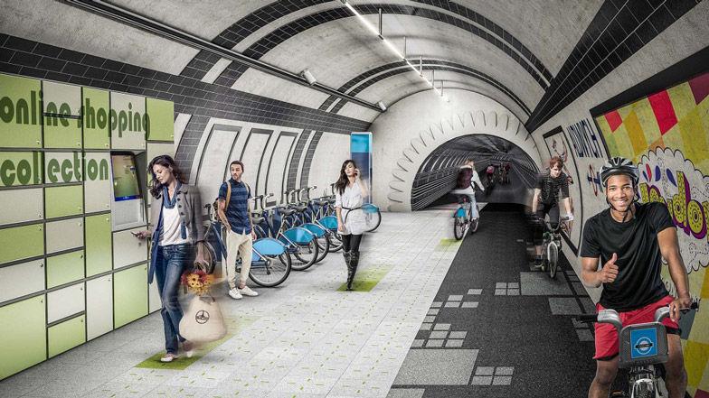 Subway Bicycle Lanes