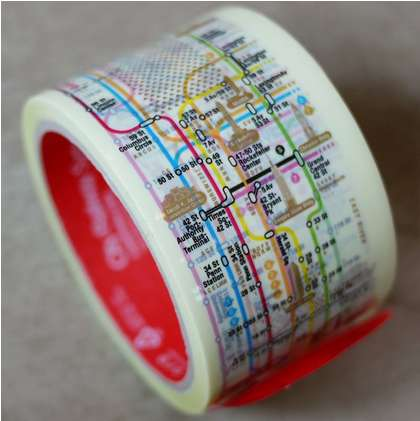 Mapped Public Transit Tape