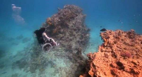 Underwater Wheelchair Explorations