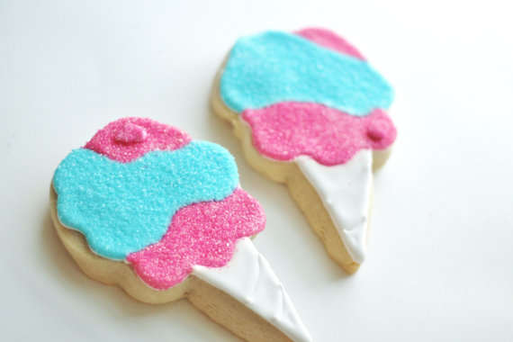 Cotton Candy Inspired Cookies