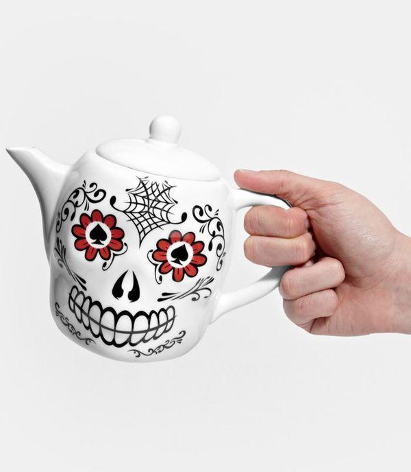 Spooky Skull Teapots