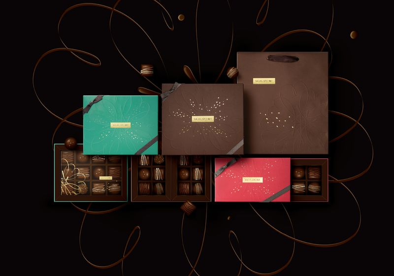 Floral-Themed Chocolate Packaging