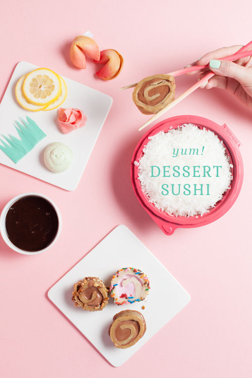 Sugary Dessert Sushis