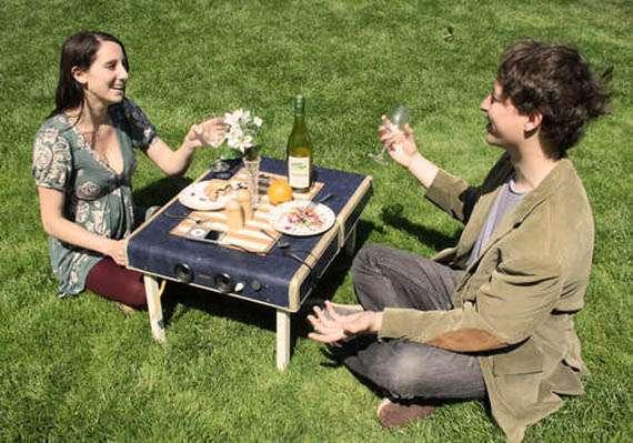 Multitasking Outdoor Essentials Suitcase Picnic Table