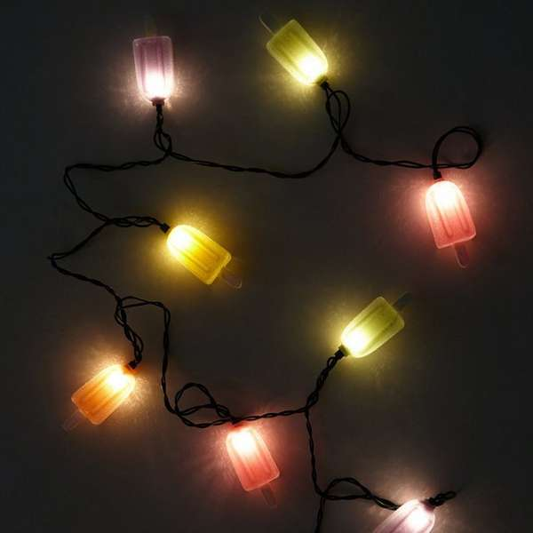 28 Outdoor Lighting Diys To Brighten Up Your Summer: Popsicle String Lights : Summer Lights