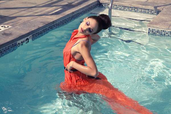 Clothed Pool-Wading Pictorials