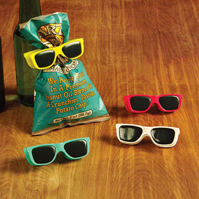 Sunglass-Shaped Snack Clips