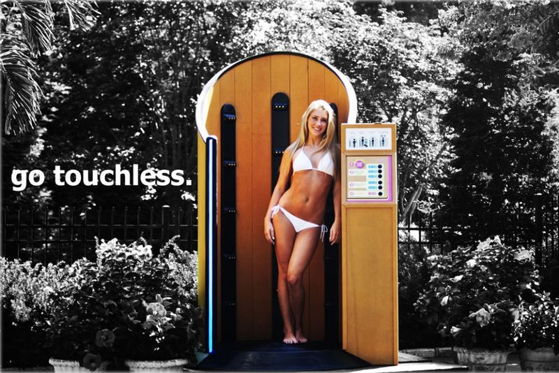 Touchless Sunblock Booths