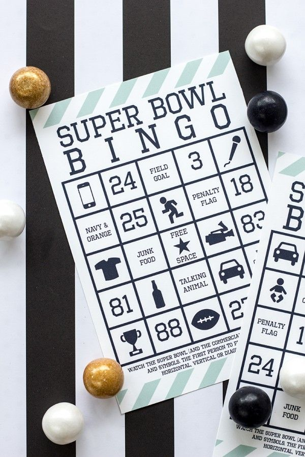 DIY Football Bingo Cards