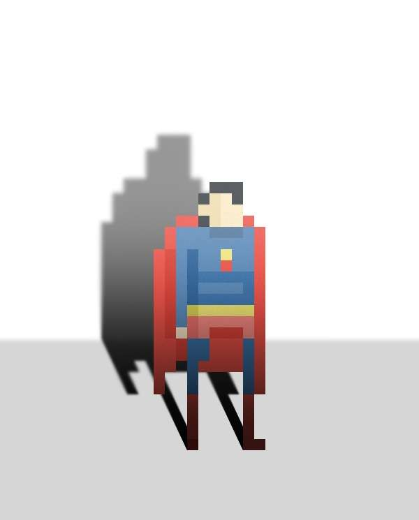 Simplistic Digitized Super Heroes