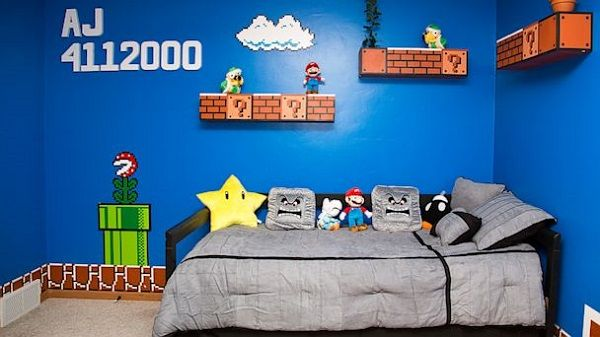 video game inspired bedrooms super mario bedroom