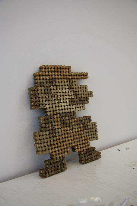 Super Mario Bullet Sculpture