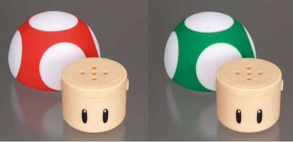 Super Mario Salt and Pepper Shakers