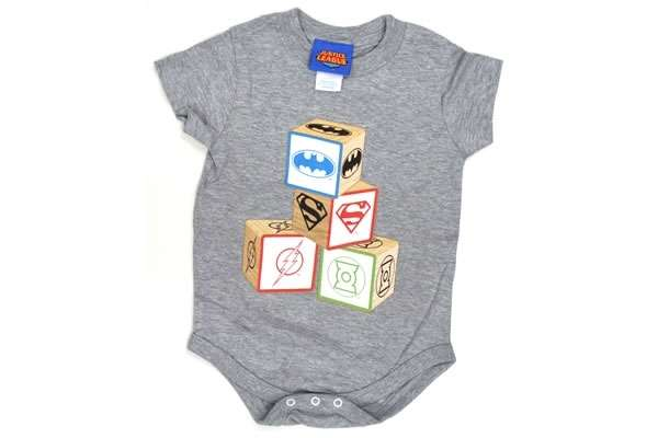 Superhero Building Blocks Baby Snapsuit