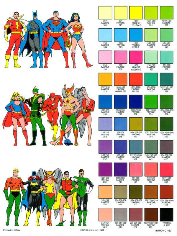 Superhero Color Guides