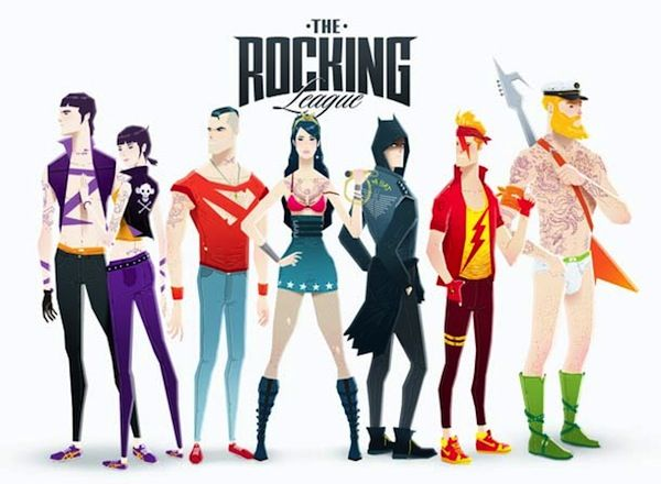 Rockstar Superhero Illustrations