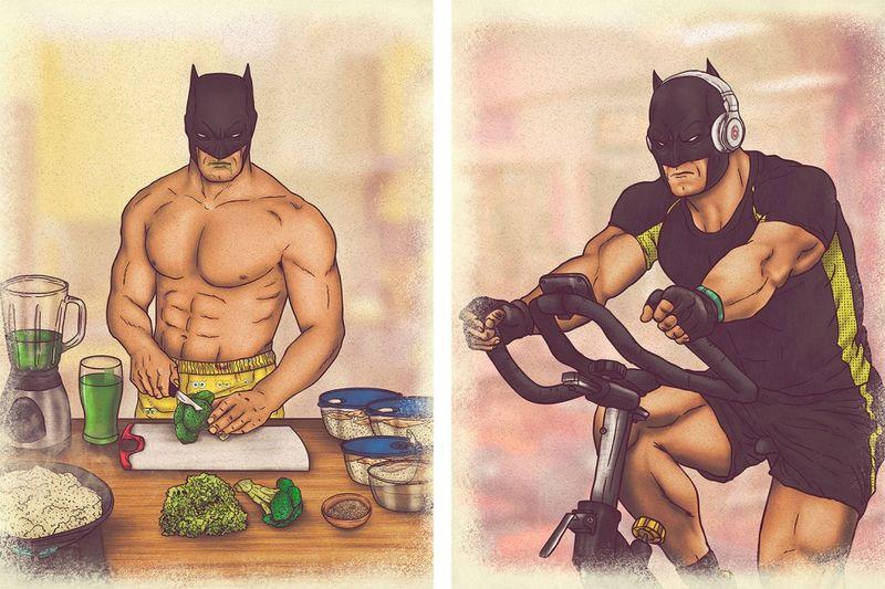 Superhero Lifestyle Illustrations