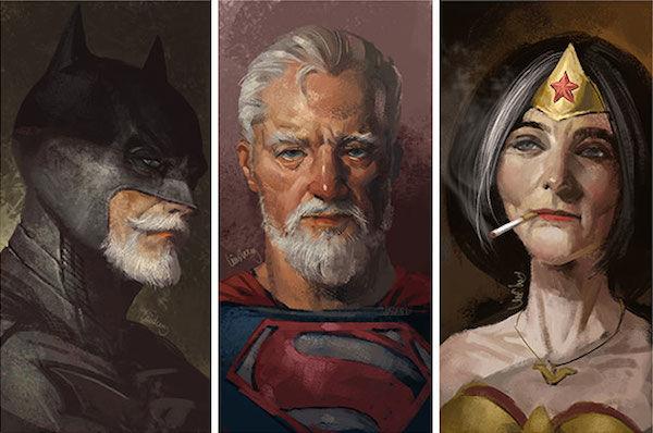 Aged Superhero Portraits