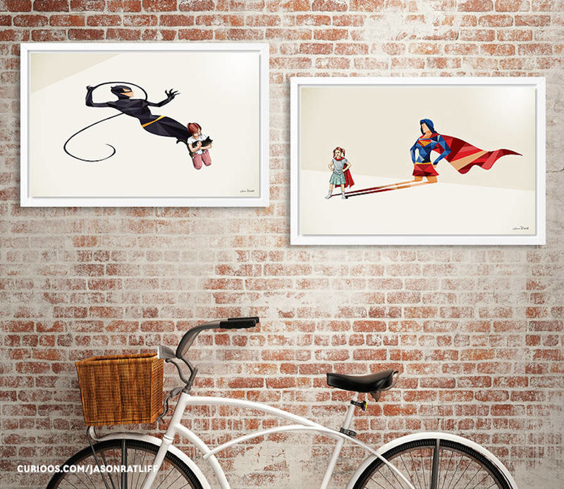 Superhero Shadow Art