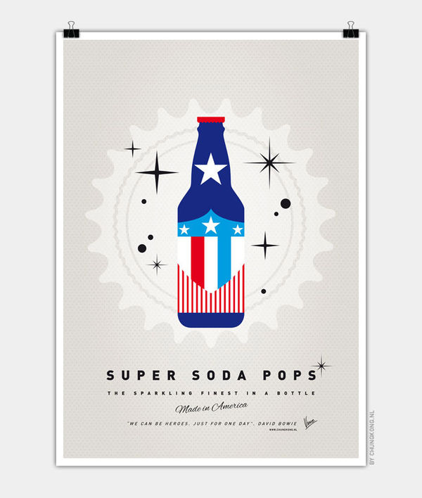 Superhero Soda Bottle Art