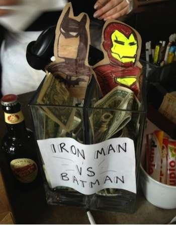 Superhero Tip Jars