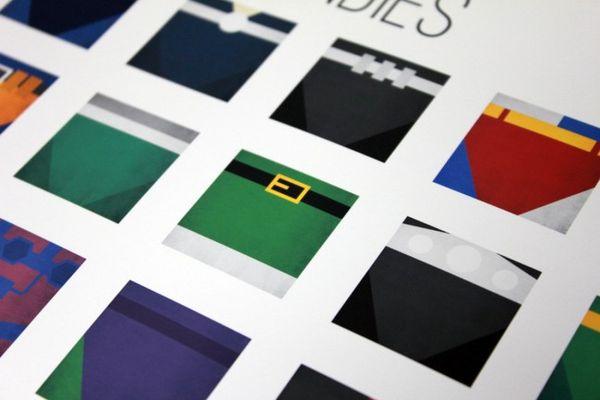 Minimalist Iconic Underwear Prints