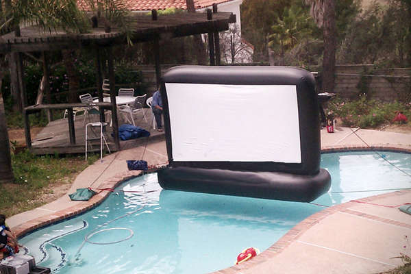 Superior Inflatables pool movie screen