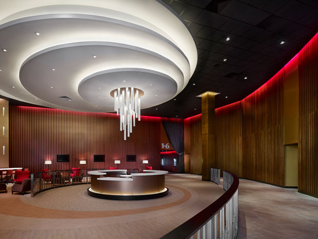 Glitzy Movie Theater Lounges