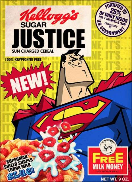 Superman cereal boxes