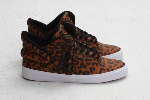 Faux Cheetah Fur Footwear