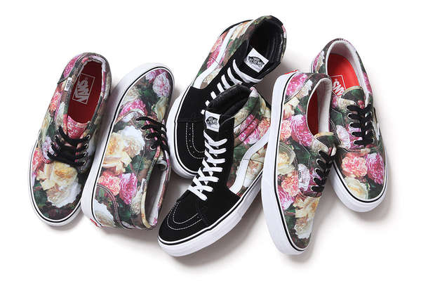 Floral Skater Shoes