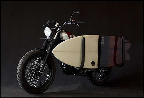Old-School Surfboard Motorcycles