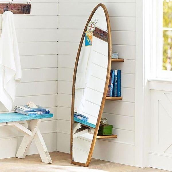 Beach Inspired Mirrors Surfboard Storage Mirror