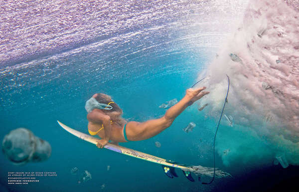 Plastic-Infused Surfing Ads