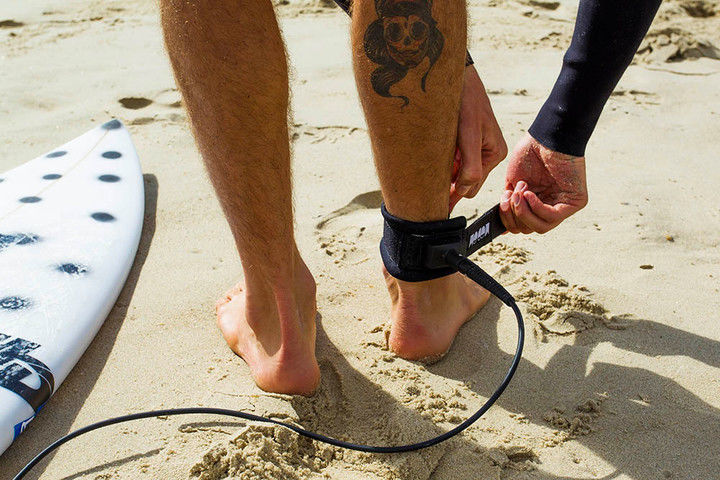 Shark-Deterring Surf Leashes