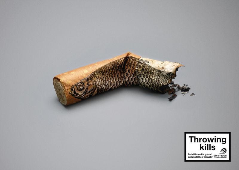 Littered Cigarette Campaigns