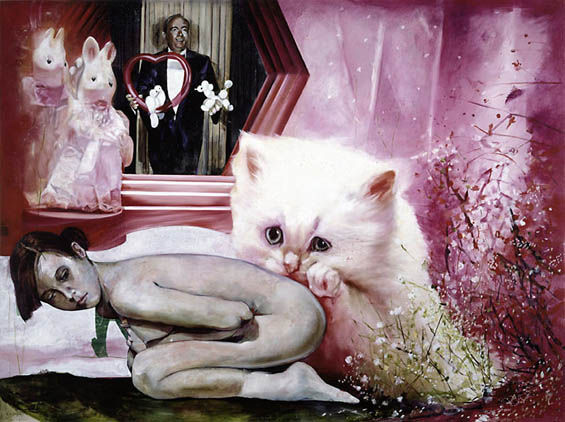 Surreal Cat Paintings