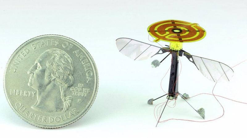 Flying Surveillance Robots