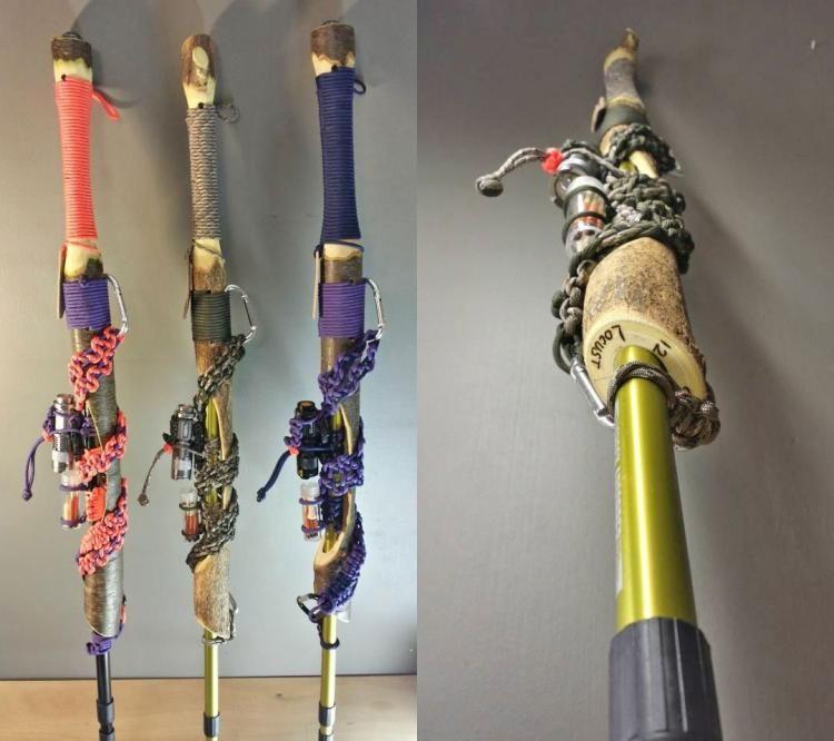 Survival Kit Walking Sticks : Survival Hiking Stick 2.0